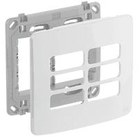 Placa 4x4 Para 6 Módulos Separados Com Suporte Com... - Jabu Elétrica, Hidráulica e Iluminação
