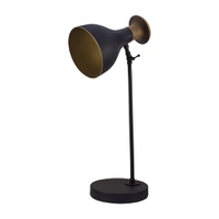 Luminária de Mesa para 1 Lâmpada E27 Preto/Dourado... - Jabu Elétrica, Hidráulica e Iluminação