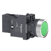 Botão 22mm Plástico Iluminado LED 220 VCA 1NA Verd... - Jabu Elétrica, Hidráulica e Iluminação