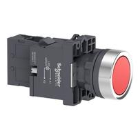 Botão 22mm Plástico Iluminado LED 220 VCA 1NA Verm... - Jabu Elétrica, Hidráulica e Iluminação