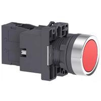 Botão 22mm Plástico Iluminado LED 24CC/CA 1NA Verm... - Jabu Elétrica, Hidráulica e Iluminação