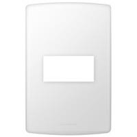 Placa 4x2 com Suporte para 1 Módulo 85090 Bianco P... - Jabu Elétrica, Hidráulica e Iluminação