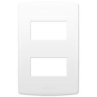 Placa 4x2 com Suporte para 2 Módulos 85091 Bianco ... - Jabu Elétrica, Hidráulica e Iluminação