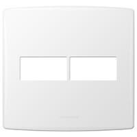 Placa 4x4 com Suporte para 2 Módulos 85094 Bianco ... - Jabu Elétrica, Hidráulica e Iluminação