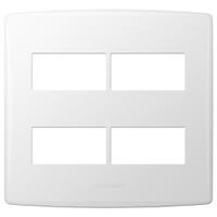 Placa 4x4 com Suporte para 4 Módulos 85095 Bianco ... - Jabu Elétrica, Hidráulica e Iluminação