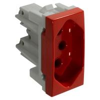 Tomada 2P + T 20A Vermelha 85022 Bianco / Inova Pr... - Jabu Elétrica, Hidráulica e Iluminação