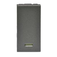 Interruptor Paralelo com LED 582603B Magnésio Arte... - Jabu Elétrica, Hidráulica e Iluminação