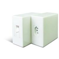Caixa com Tomada 2P+T 20A e Encaixe para Minidisju... - Jabu Elétrica, Hidráulica e Iluminação