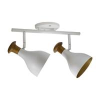 Spot para 2 Lâmpada E27 Branco (Externo) Dourado (... - Jabu Elétrica, Hidráulica e Iluminação