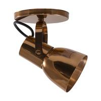 Spot para 1 Lâmpada E27 Cobre Polido Base - Jabu Elétrica, Hidráulica e Iluminação