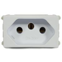 Tomada 2p + t 20a Refinatto - Weg Branco - Jabu Elétrica, Hidráulica e Iluminação