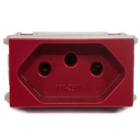 Tomada 2p + t 10a Vermelho Refinatto - Weg - Jabu Elétrica, Hidráulica e Iluminação