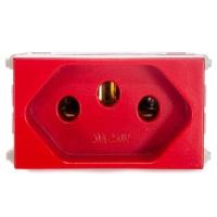 Tomada 2p + t 20a Vermelho Refinatto - Weg - Jabu Elétrica, Hidráulica e Iluminação