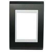 Placa 4x2 Para 3 Módulos Refinatto Style Preto - W... - Jabu Elétrica, Hidráulica e Iluminação