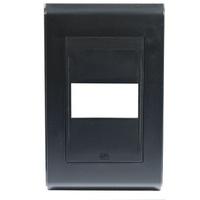 Placa 4x2 Para 1 Módulo Refinatto Style Preto - We... - Jabu Elétrica, Hidráulica e Iluminação
