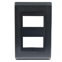 Placa 4x2 Para 2 Módulos Refinatto Style Preto- We... - Jabu Elétrica, Hidráulica e Iluminação