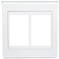 Placa 4x4 Para 6 Módulos Refinatto Style - Branco ... - Jabu Elétrica, Hidráulica e Iluminação