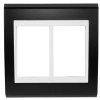 Placa 4x4 Para 6 Módulos Refinatto Style -preto We... - Jabu Elétrica, Hidráulica e Iluminação