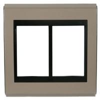 Placa 4x4 Para 6 Módulos Refinatto Style - Argila ... - Jabu Elétrica, Hidráulica e Iluminação