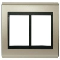 Placa 4x4 Para 6 Módulos Refinatto Concept - Champ... - Jabu Elétrica, Hidráulica e Iluminação