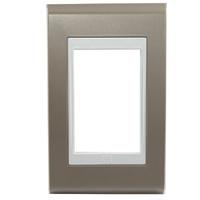 Placa 4x2 Para 3 Módulos Refinatto Style Argila e ... - Jabu Elétrica, Hidráulica e Iluminação