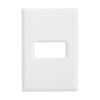 Placa 4x2 para 1 Módulo Horizontal 618501BC PialPl... - Jabu Elétrica, Hidráulica e Iluminação