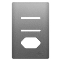 Placa 4x2 com Suporte para 2 Interruptores + 1Toma... - Jabu Elétrica, Hidráulica e Iluminação