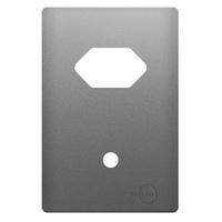 Placa 4x2 com Suporte para 1 Tomada Horizontal + 1... - Jabu Elétrica, Hidráulica e Iluminação