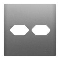 Placa 4x4 com Suporte para 2 Tomadas AC1500/58 Dic... - Jabu Elétrica, Hidráulica e Iluminação