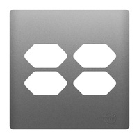 Placa 4x4 com Suporte para 4 Tomadas AC1500/59 Dic... - Jabu Elétrica, Hidráulica e Iluminação