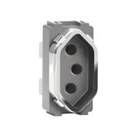 Módulo Tomada 2P+T 10A AC1500/70 Dicompel - Jabu Elétrica, Hidráulica e Iluminação