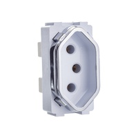 Módulo Tomada 2P+T 10A DC1200/38 Dicompel - Jabu Elétrica, Hidráulica e Iluminação