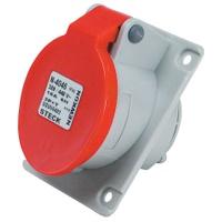 Tomada de Embutir 3P + T 16A Vermelha N4046 Steck... - Jabu Elétrica, Hidráulica e Iluminação
