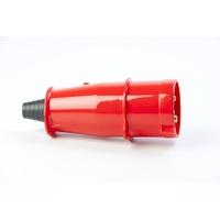 Plugue 3P+T 63A 380/440V Vermelho N4576 Steck - Jabu Elétrica, Hidráulica e Iluminação