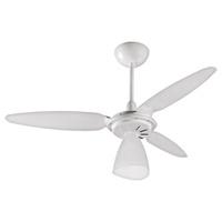 Ventilador de Teto 3 Pás Plásticas Brancas Wind Li... - Jabu Elétrica, Hidráulica e Iluminação
