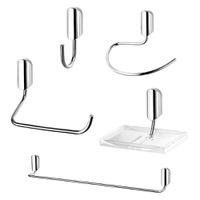 Kit de Acessórios para Banheiro com 5 Peças LorenJ... - Jabu Elétrica, Hidráulica e Iluminação