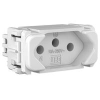 Tomada 2p + t 10a Composé Branco- Weg - Jabu Elétrica, Hidráulica e Iluminação