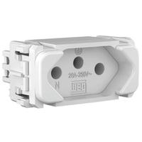 Tomada 2p + t 20a Composé Branco - Weg - Jabu Elétrica, Hidráulica e Iluminação