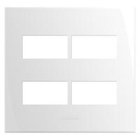 Placa 4x4 com Suporte para 4 Módulos 85005 Inova P... - Jabu Elétrica, Hidráulica e Iluminação