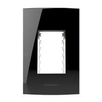 Placa 4x2 com Suporte para 3 Módulos 85528 Black P... - Jabu Elétrica, Hidráulica e Iluminação
