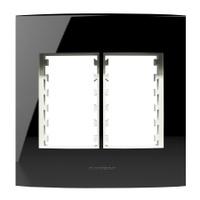 Placa 4X4 Com Suporte para 3 + 3 Módulos 85532 Bla... - Jabu Elétrica, Hidráulica e Iluminação