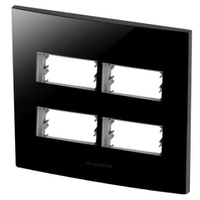 Placa 4X4 Com Suporte para 2 + 2 Módulos 85531 Bla... - Jabu Elétrica, Hidráulica e Iluminação