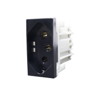 Tomada 2P + T 10A 85509 Black Piano Inova Pró Clas... - Jabu Elétrica, Hidráulica e Iluminação