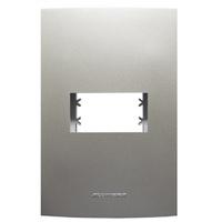 Placa 4x2 com Suporte para 1 Módulo 85576 Titanium... - Jabu Elétrica, Hidráulica e Iluminação