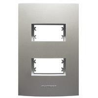 Placa 4x2 com Suporte para 2 Módulos 85577 Titaniu... - Jabu Elétrica, Hidráulica e Iluminação