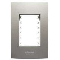 Placa 4x2 com Suporte para 3 Módulos 85578 Titaniu... - Jabu Elétrica, Hidráulica e Iluminação