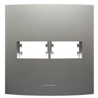 Placa 4x4 com Suporte para 1 + 1 Módulo 85580 Tita... - Jabu Elétrica, Hidráulica e Iluminação