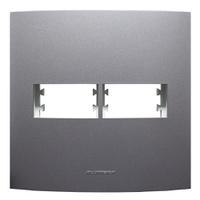 Placa 4x4 com Suporte para 1 + 1 Módulo 85480 Graf... - Jabu Elétrica, Hidráulica e Iluminação