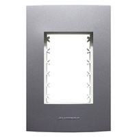 Placa 4x2 com Suporte para 3 Módulos 85478 Grafite... - Jabu Elétrica, Hidráulica e Iluminação