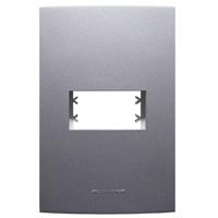 Placa 4x2 com Suporte para 1 Módulo 85476 Grafite ... - Jabu Elétrica, Hidráulica e Iluminação